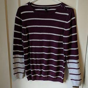 Banana Republic purple/white cotton sweater